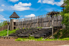 Viking's village in Estonia. Viking's village  in Estonia, Viikingite kala Royalty Free Stock Image