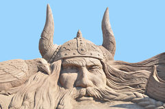Viking Sand Sculpture Lizenzfreie Stockfotos