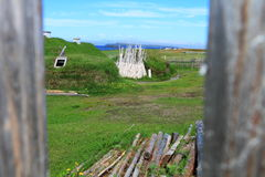 Viking settlement Royalty Free Stock Image