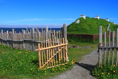 Viking settlement Stock Photography