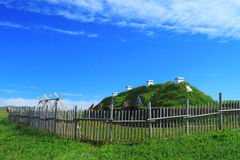 Viking settlement Royalty Free Stock Image