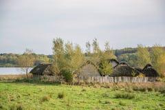 Viking Settlement Haithabu, Germany stock photo