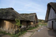 Viking Settlement Haithabu, Germany stock photos