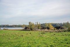 Viking Settlement Haithabu, Germany stock image