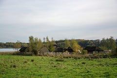 Viking Settlement Haithabu, Germany royalty free stock images