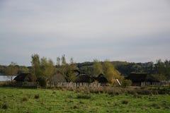 Viking Settlement Haithabu, Germany stock photography