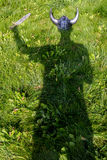 Viking shadow royalty free stock photo