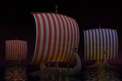 Viking ship Royalty Free Stock Photography