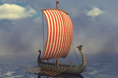 Viking ship stock illustration