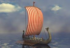 Viking ship Vector Illustration