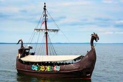 Viking ship. On the sea. Baltic Sea, Poland Royalty Free Stock Photos