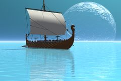 Viking Ship 2 Royalty Free Stock Photography