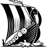 Viking Ship vektor illustrationer