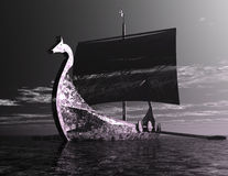 Viking Ship Foto de Stock Royalty Free
