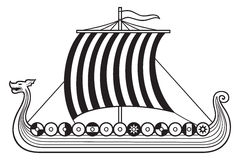 Viking Ship Imagem de Stock