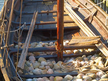 Viking ship ballast stones Stock Photography
