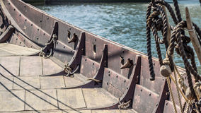 Viking ship deck Stock Photos