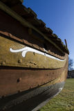 Viking ship detail. Old wood Royalty Free Stock Photos