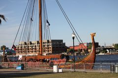 Viking Ship Draken Harald Harfagre noruego fotos de archivo