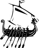 Viking Ship Expressionistic Immagini Stock