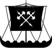 Viking Ship feroz Imagem de Stock Royalty Free