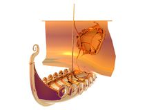 Viking Ship Gold Royalty Free Stock Photography