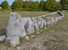 Viking ship grave Royalty Free Stock Images