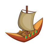 Viking ship icon, cartoon style Royalty Free Stock Photography