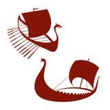 Viking ship icon. Longship.  on white. Stock Images