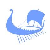 Viking ship icon. Longship.  on white. Royalty Free Stock Photo