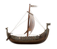 Viking Ship isolated. On white background. Isolation is on a transparent layer in the PNG format stock photography