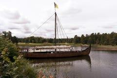 Viking ship on lake Vaenern Royalty Free Stock Image