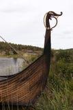 Viking ship on lake Vaenern Stock Photo