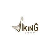 Viking ship. Logo design on a white background Royalty Free Stock Photo