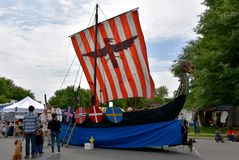 Viking Ship, Manassas Viking Festival image libre de droits