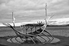 Viking ship monument, Reykjavik Royalty Free Stock Photography