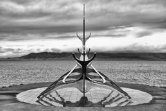 Viking ship monument, Reykjavik Stock Photos