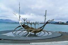 Viking ship monument. In Reykjavik, Iceland Stock Images