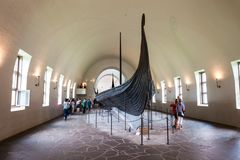 Viking Ship Museum, Oslo. OSLO, NORWAY - JULY 21, 2017: Viking Ship Museum is located at Bygdoy island in Oslo, Norway. Viking Ship Museum is a part of Norwegian stock image