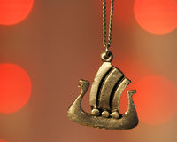 A Viking Ship Necklace Stock Photography