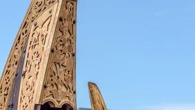 Viking ship ornaments. Viking ship wood carving ornaments showing excellent craftmanship Royalty Free Stock Image