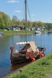 St. Petersburg, Russia - May 27, 2017: Viking Viking ship replica in St. Petersburg, Russia Royalty Free Stock Images