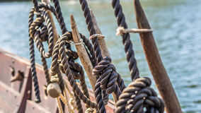 Viking ship rigging Royalty Free Stock Photo