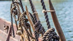 Viking ship rigging Royalty Free Stock Photo
