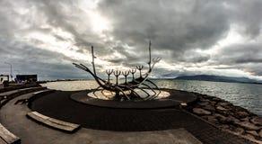 Viking Ship Sculpture Iceland royalty free stock photos