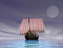 Viking Ship at Sea Stock Photos