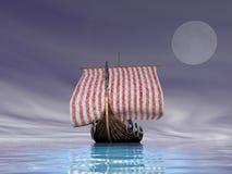 Viking Ship at Sea Stock Photos