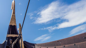 Viking ship stern Royalty Free Stock Photo