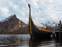 Viking ship. A viking ship Drakkar in Norway royalty free stock images