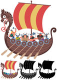 Viking Ship on White Royalty Free Stock Photography